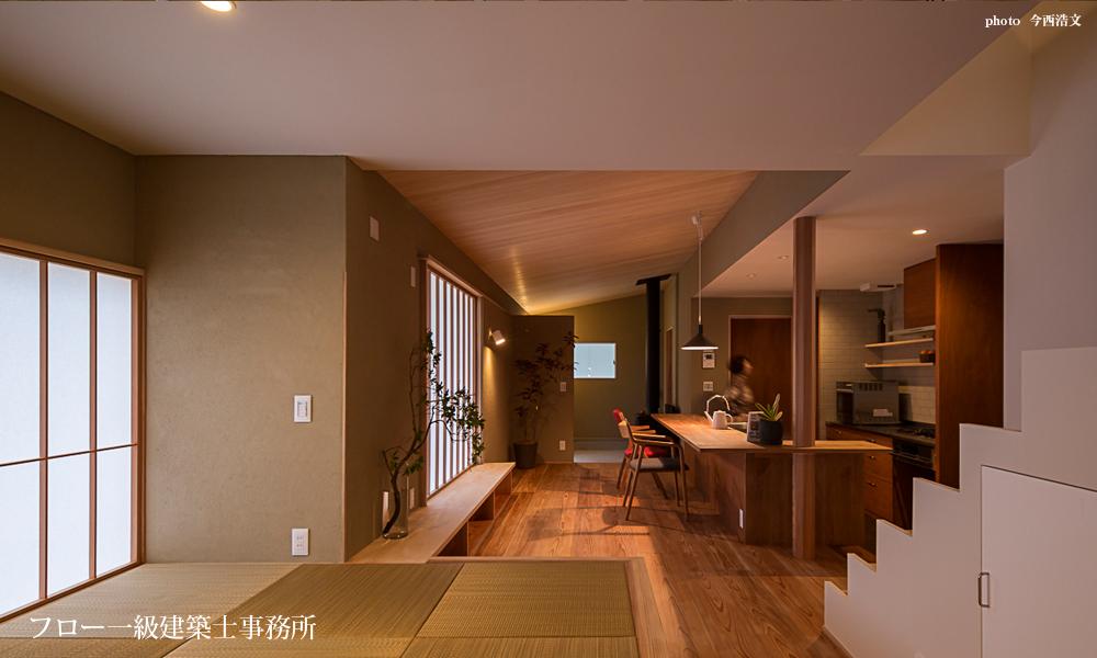木の家・土壁・素材を使った新築・リフォーム-フロー建築事務所 大阪・兵庫・西宮・神戸・京都・奈良・三重 国産材・自然素材を使った「和モダンの家」